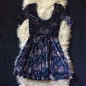 Kimchi Blue Dresses - Kimchi Blue Urban Outfitters velvet floral dress